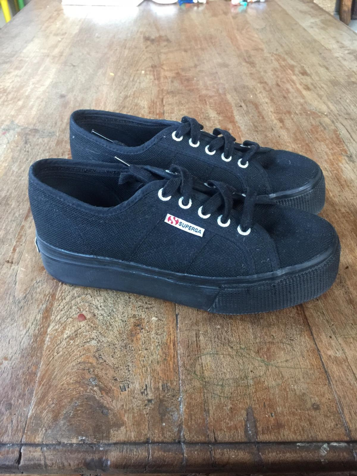 b4e79894b4f17 Superga black platform trainers size 5 in W11 Chelsea for £20.00 for ...