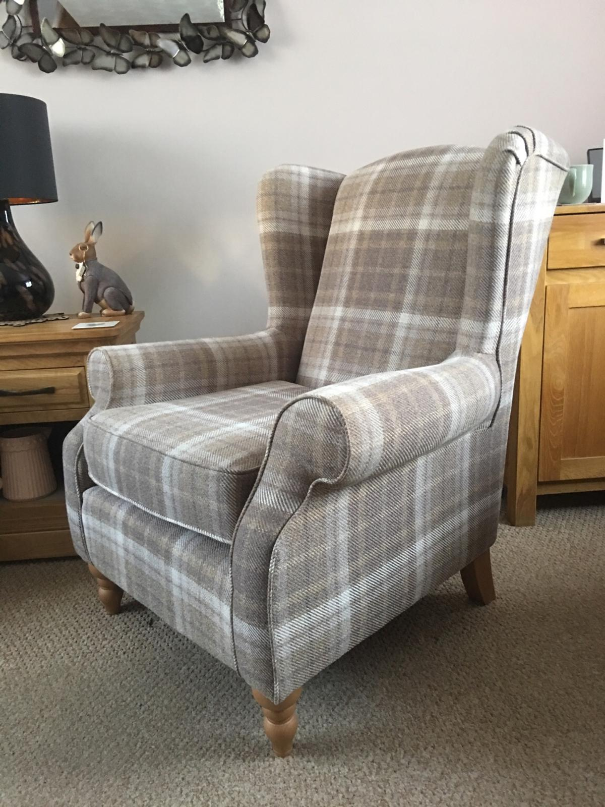 "Next ""Sherlock tweed check"" arm chair x2 in Colchester for ..."