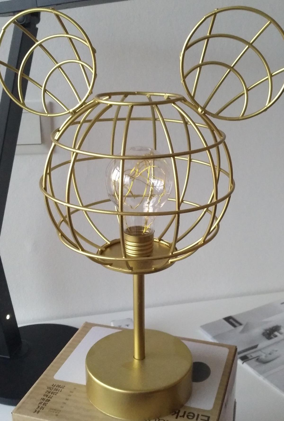 Mickey mouse Lampe gold