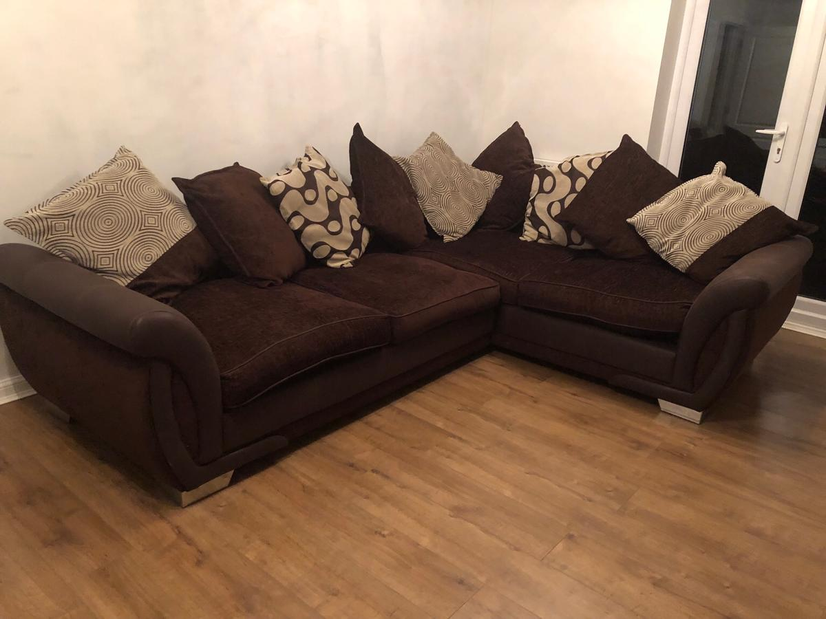 Dfs Corner Sofa Brown In Coventry For