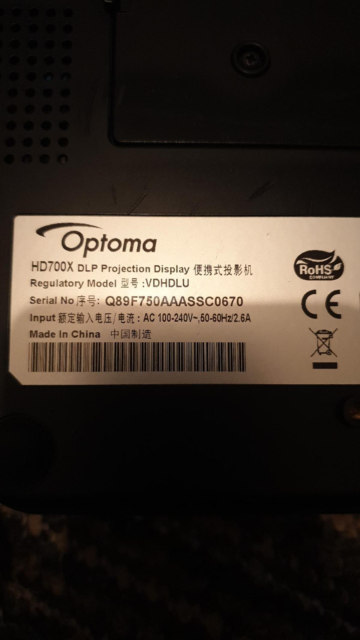 Optoma HD700X Projector in WA1 Warrington for £95 00 for