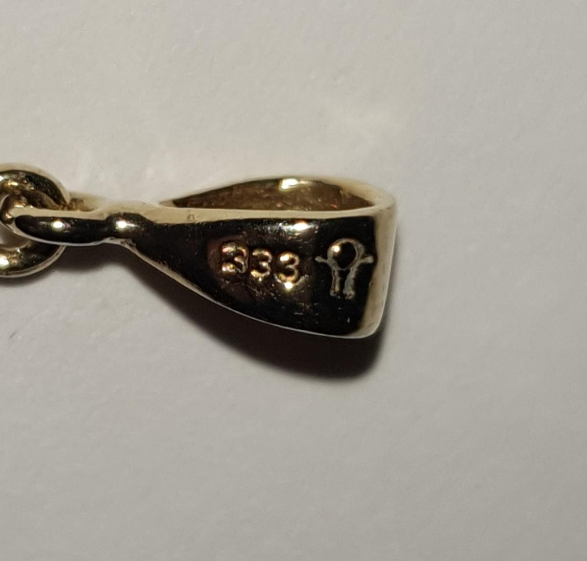 585 14K GOLD ORO GULD CARAT RING STAMP SWAN NECK STAMPING PUNCH JEWELLERS