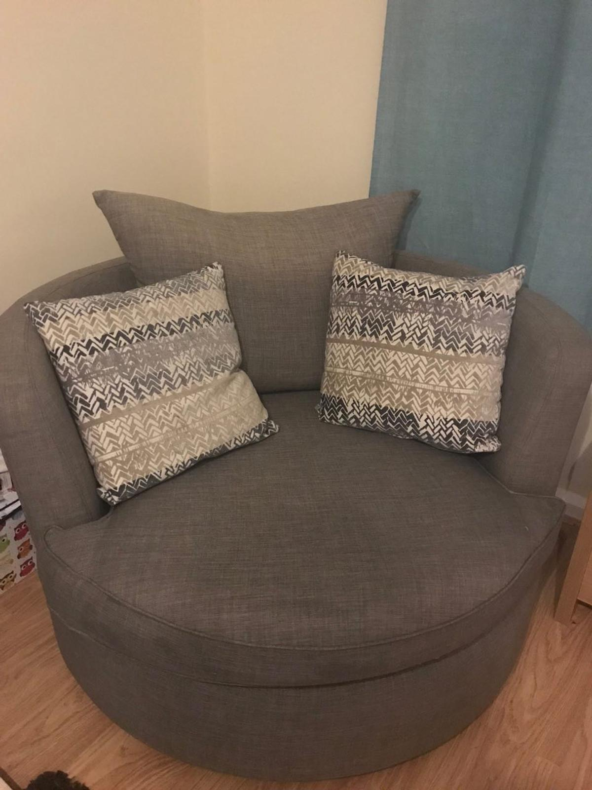 Stupendous 2 Seater Dfs Swivel Chair Footstool In Wrexham For 150 00 Bralicious Painted Fabric Chair Ideas Braliciousco