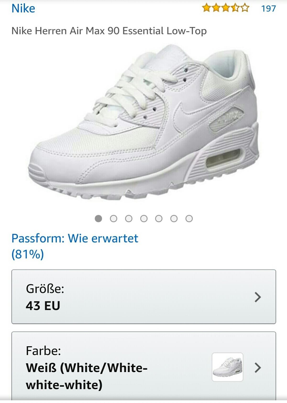 Nike Herren Air Max 90 Essential Low Top neu in 55232 Alzey