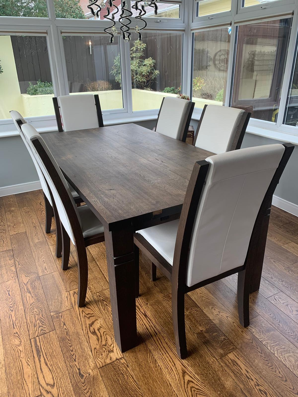 Astounding Solid Wooden 6 Seater Dining Table And Chairs Gmtry Best Dining Table And Chair Ideas Images Gmtryco