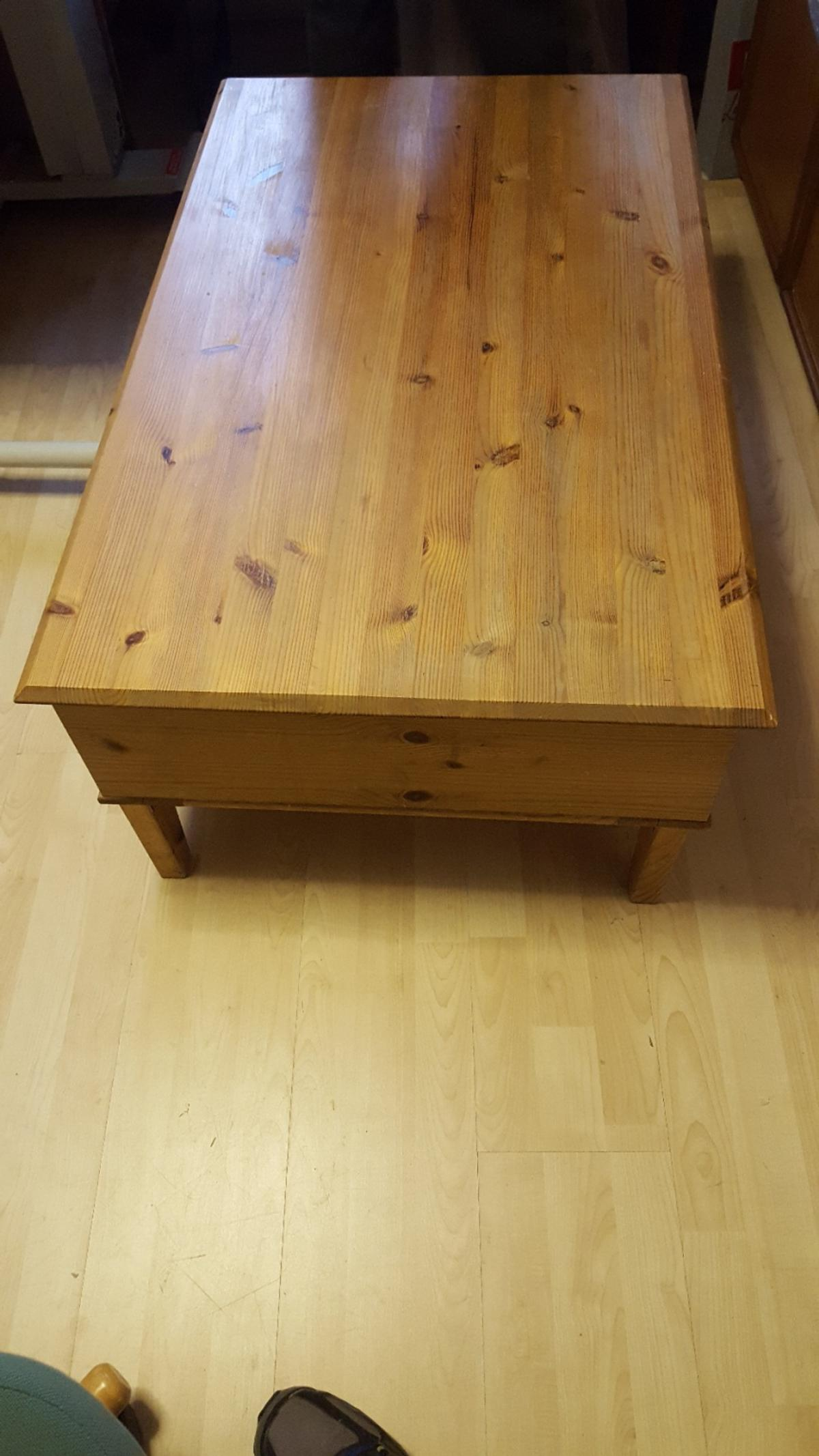 Pine Coffee Table Dual Opening Drawers In Slough For 40 00 For