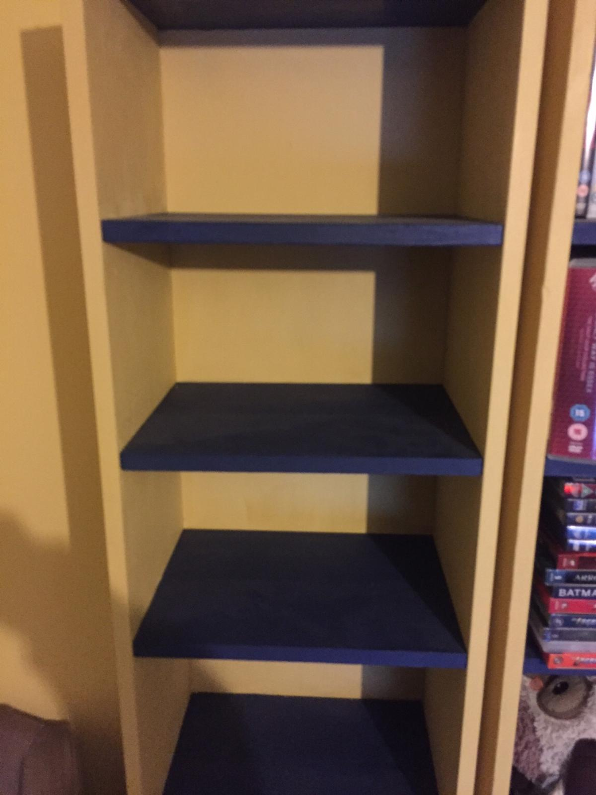 Narrow Billy Bookcase Mustard And Navy In Gu1 Guildford Fur