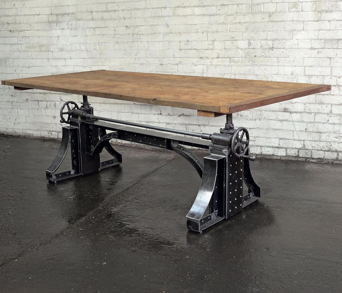 Industrial Crank Base Dining Table Rustic In Ol6 Tameside For 1 602 00 For Sale Shpock