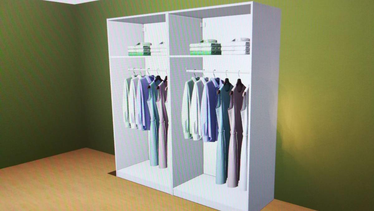 Ikea pax wardrobe with 4 plain white doors in BD4 Bradford for