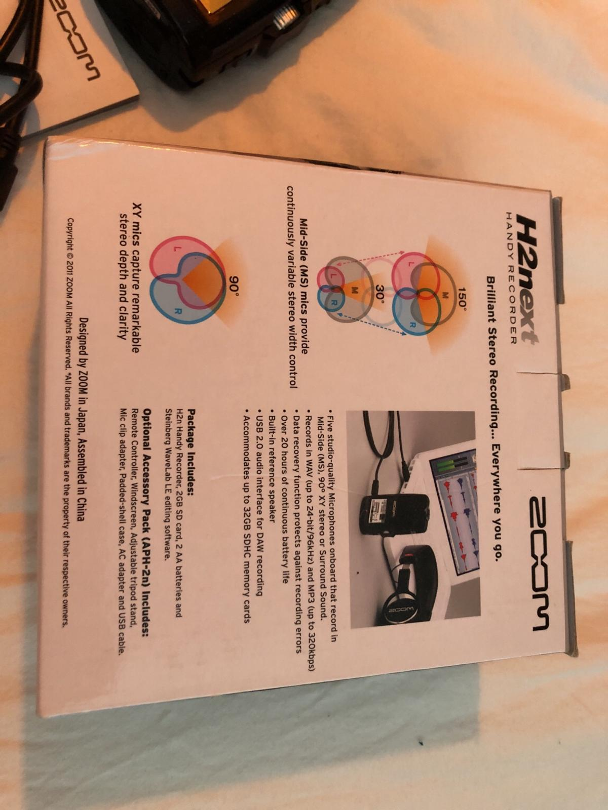 Zoom H2n stereo recorder