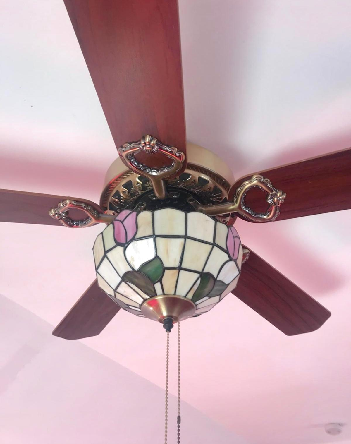 Encon Ceiling Fan Light Tiffany Style In Ig10 Forest For 50 00 For Sale Shpock