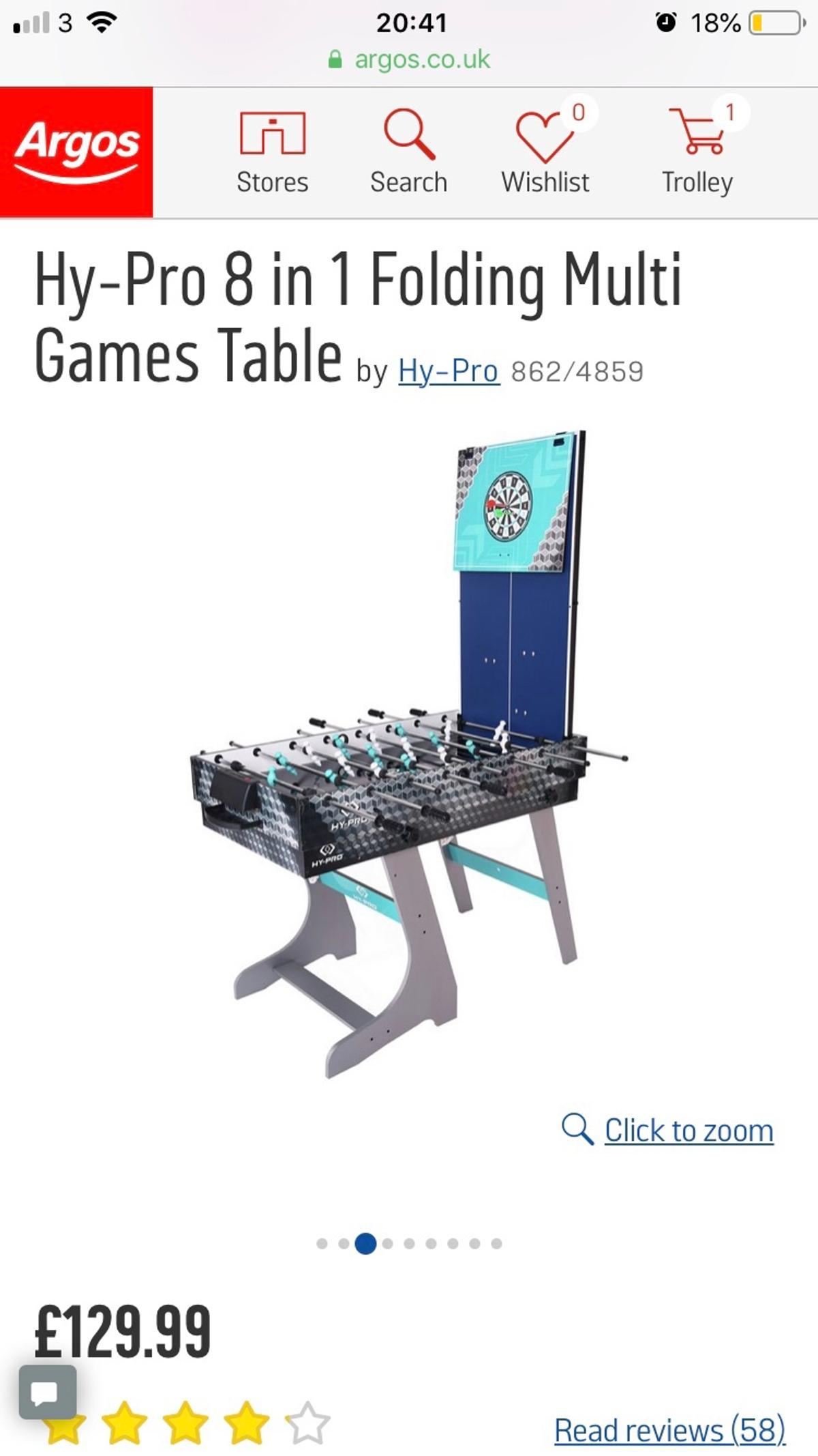 - Hy-Pro 8 In 1 Folding Multi Games Table In Bradford For £60.00 For