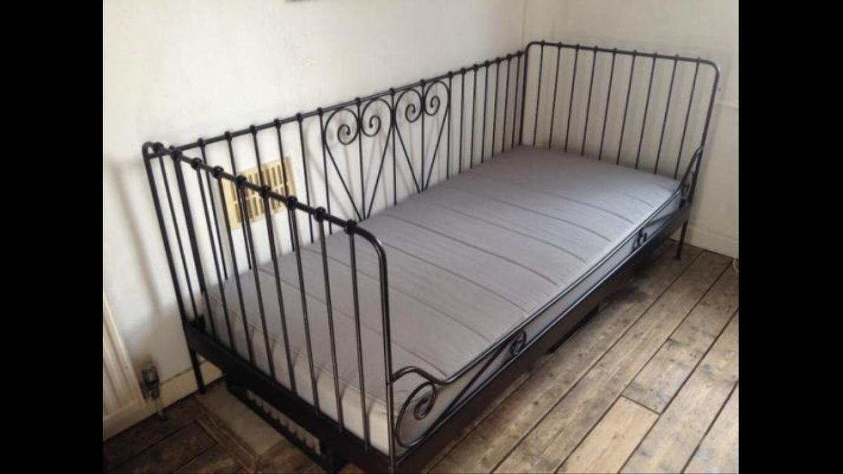 - Black Metal Ikea Single Day Bed In DY10 Wyre Forest For £50.00 For