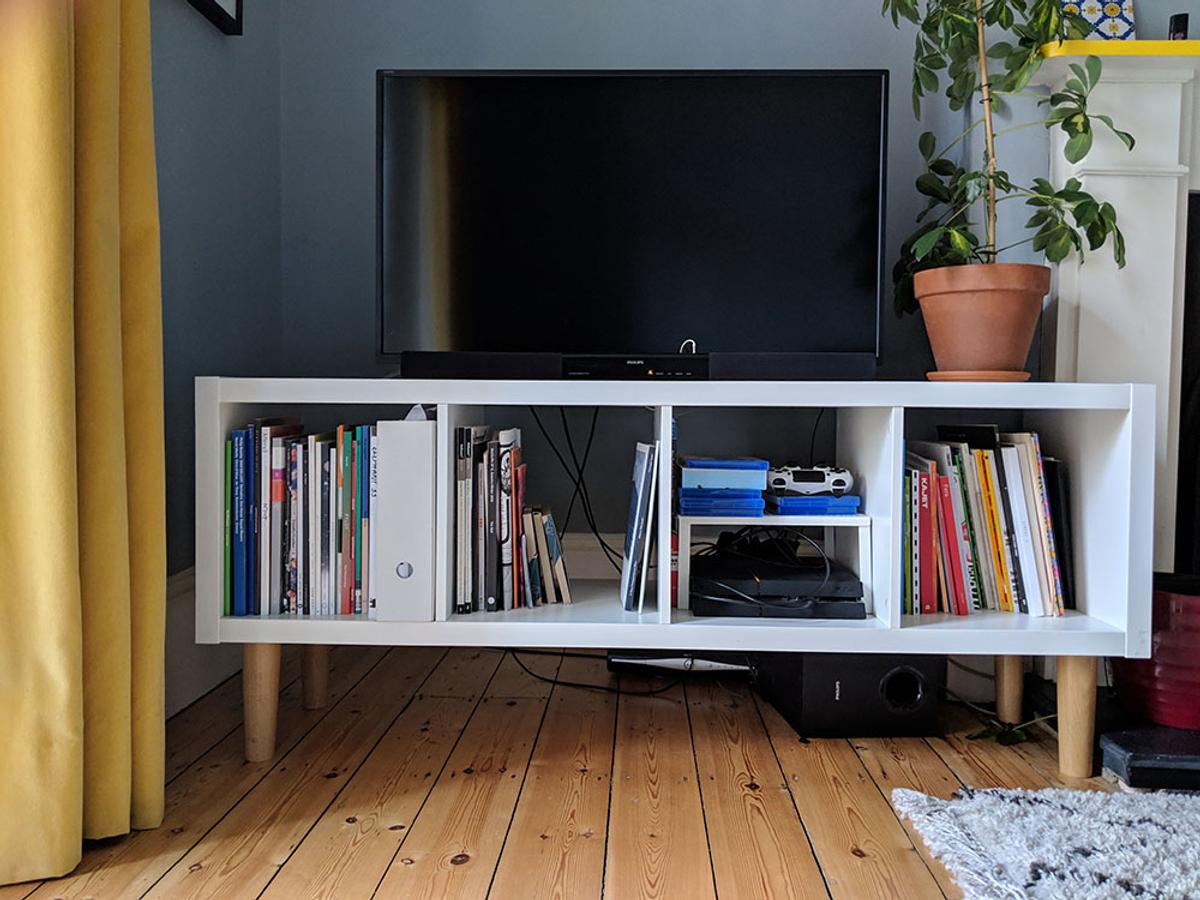 Tv Stand Hacked Ikea Kallax In N22 London For 35 00 For Sale Shpock