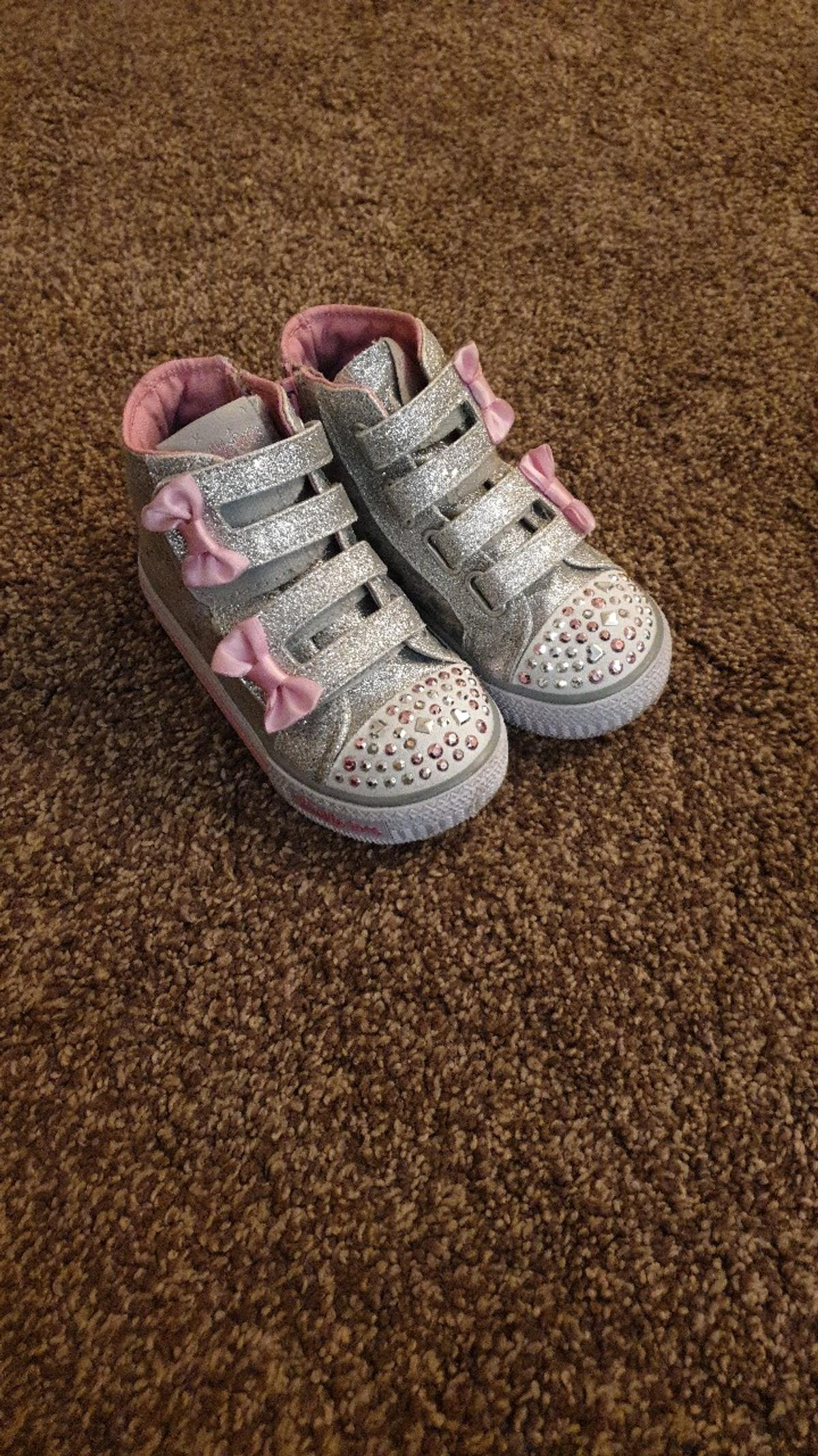 4ca055f63c75d girls silver twinkle toes sketches size 7 in WV14 Dudley for £10.00 ...