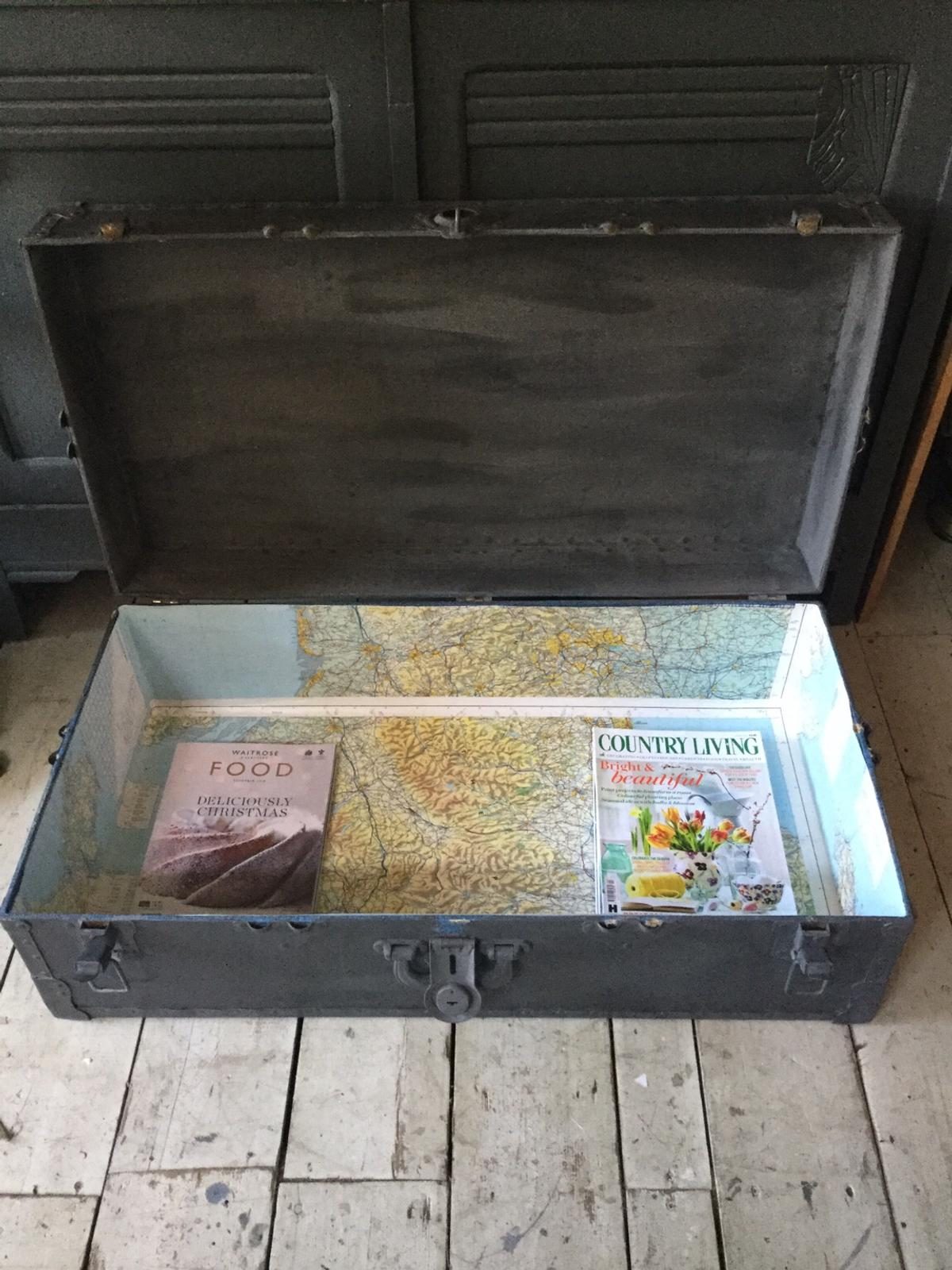Coffee Table Toy Chest.Vintage Steamer Trunk Coffee Table Toy Box In Wd18 Watford Fur