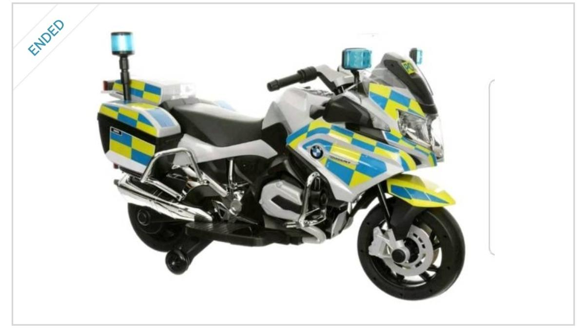 Licenced Bmw R1200rt Police Motorcycle Rideon