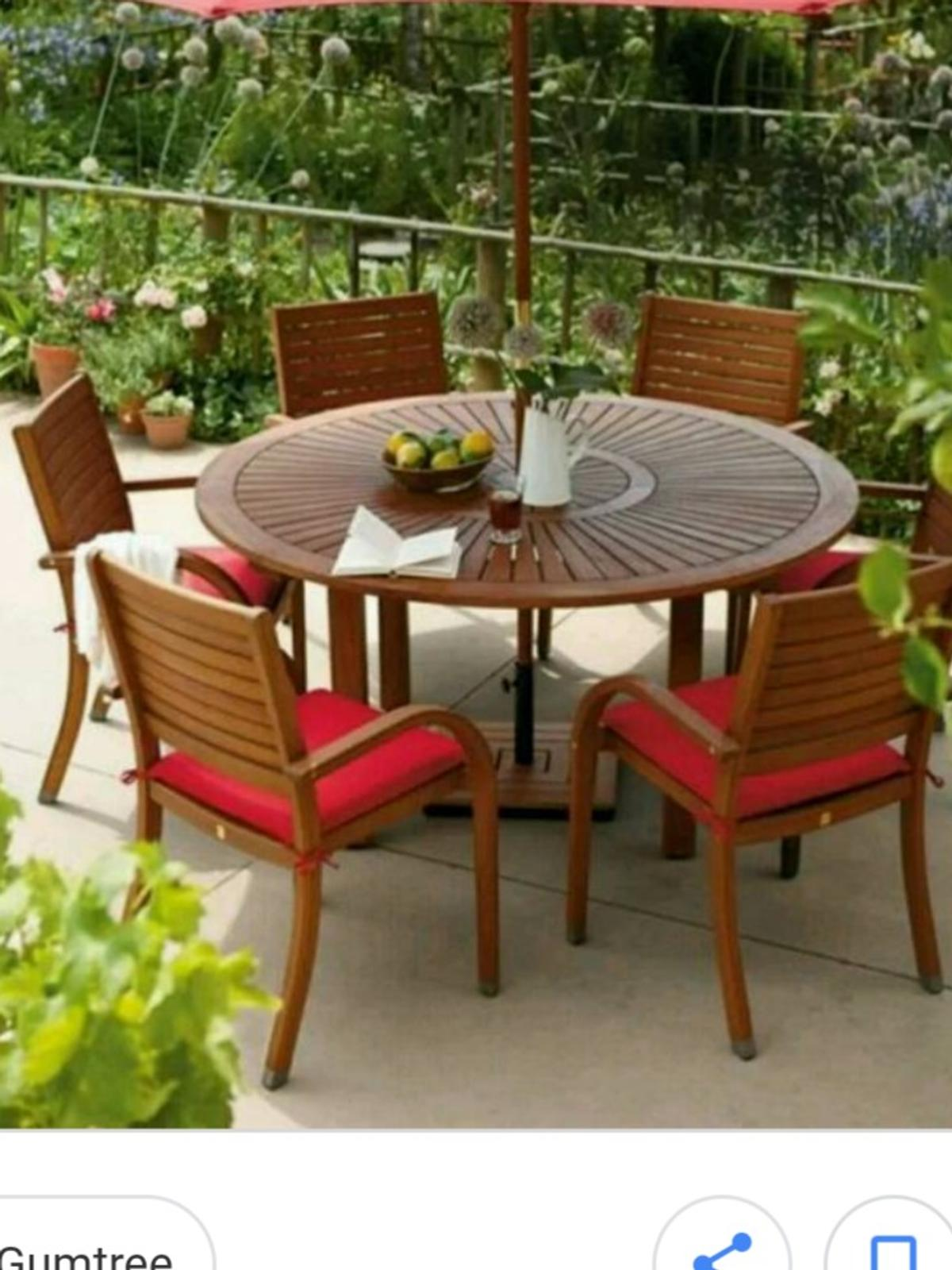 6 Seater Wooden Garden Table And Chairs