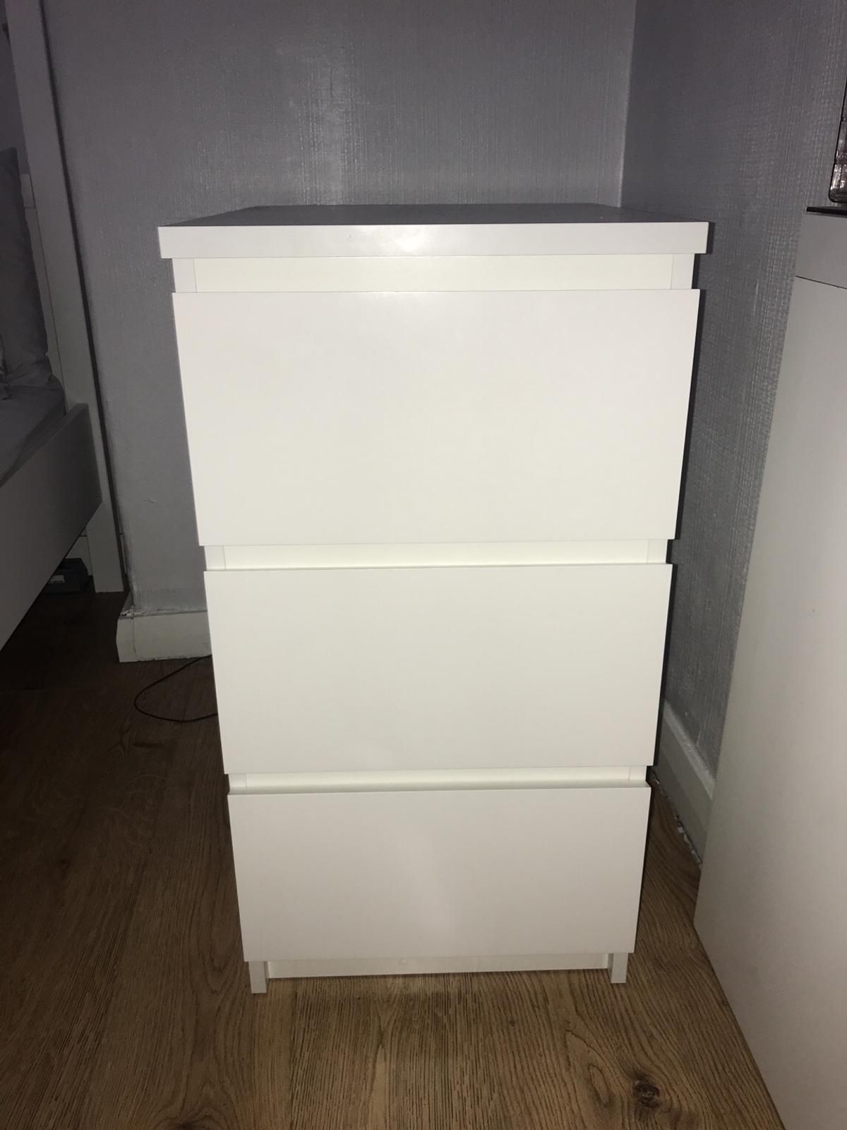 release date 189ca c02cd IKEA Malm 3 drawer bedside table