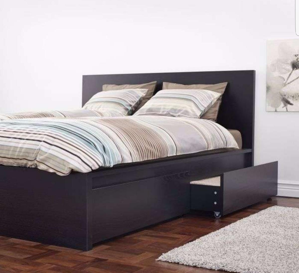 Ikea Malm Bett 160x200 Schwarzbraun In 5020 Rott For 150 00 For Sale Shpock