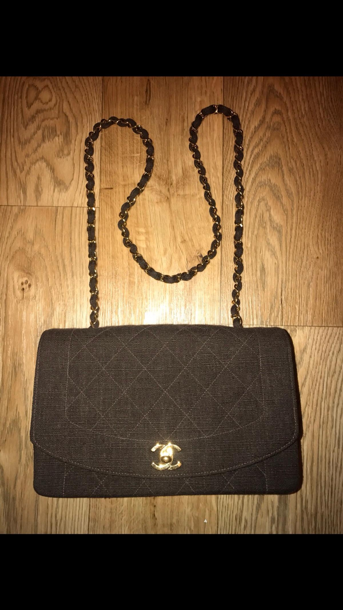 708b7afa Authentic, vintage, classic Chanel flap bag in SS0-Sea for £800.00 ...