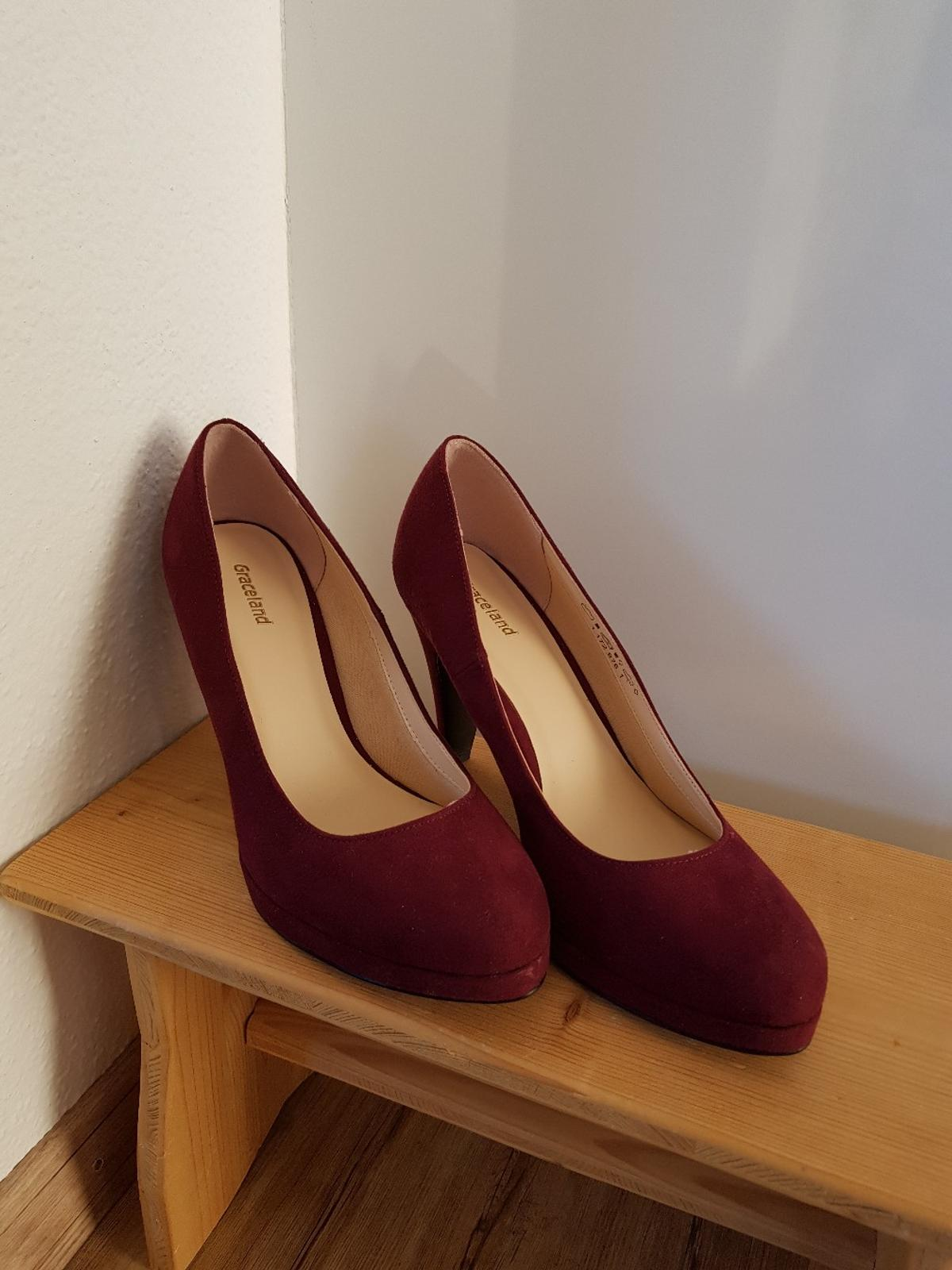 Pumps weinrot bordeaux High Heels NEU