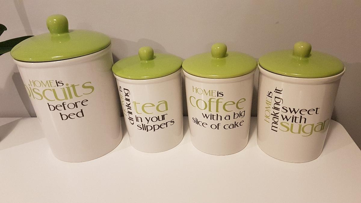 Coffee Tea Sugar Biscuits Canisters