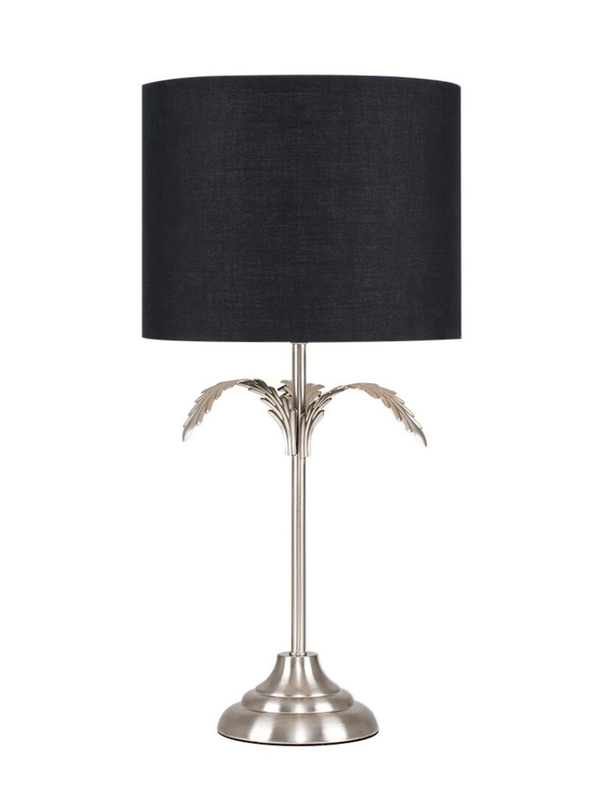 Black Silver Palm Tree Table Lamp