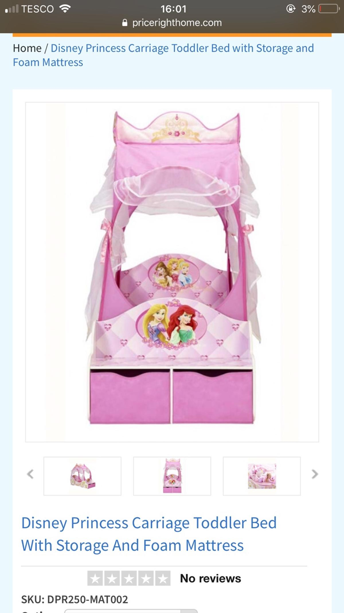 - Disney Princess Toddler Bed In BL8 Bury For £75.00 For Sale Shpock