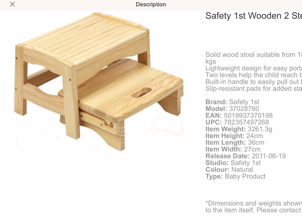 Superb Wooden Step Stool In Ss4 Rochford For 20 00 For Sale Shpock Theyellowbook Wood Chair Design Ideas Theyellowbookinfo