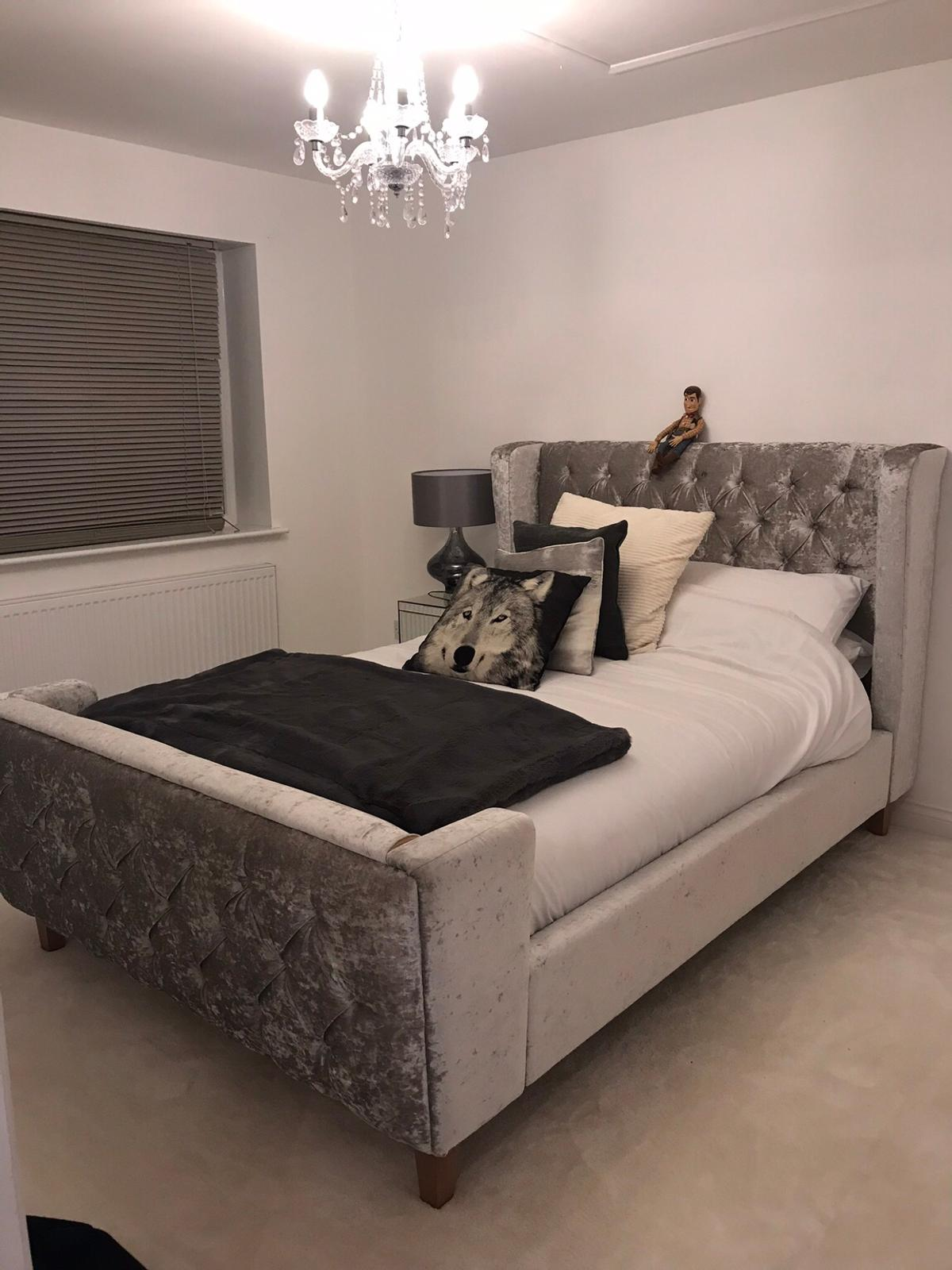 Picture of: Beautiful Grey King Size Dfs Bed For Sale In London Borough Of Havering For 360 00 For Sale Shpock