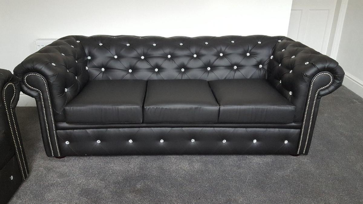 - DIAMOND LEATHER CHESTERFIELD SOFA ** In Ng5 6ae Nottingham Für 650