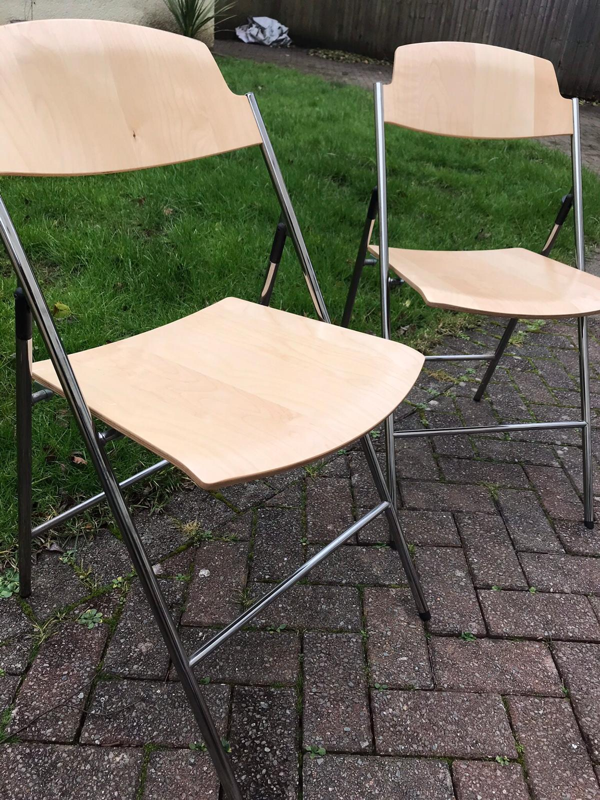 4 Ikea Edgar Folding Chairs In Killay For 20 00 For Sale Shpock