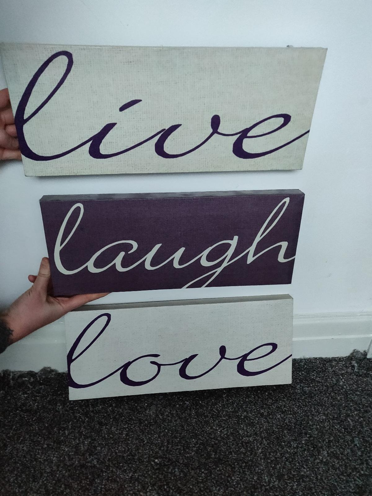 Live Love Laugh Canvas Signs In Sk5 Stockport For 5 00 For Sale Shpock,Baby Shower Decorations For Girl Elephant Theme