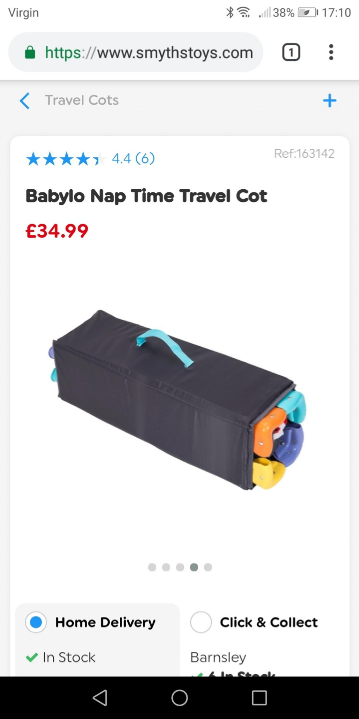 detailed look b673e cb108 babylo travel cot