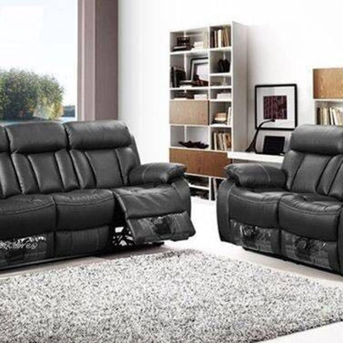 Real Soft Leather Sofas Recliners 3 2