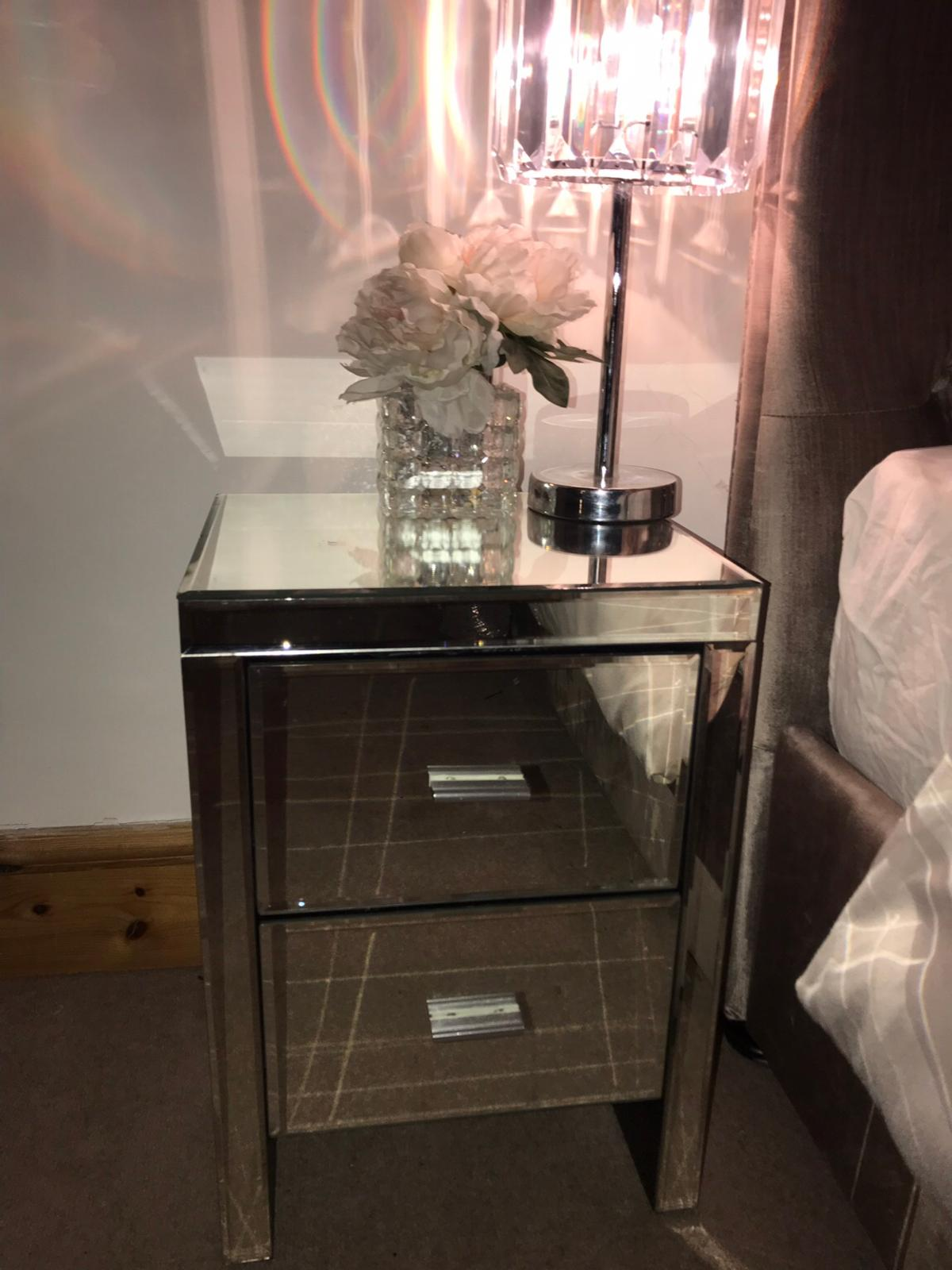 Dunelm Mirrored Bedside Table