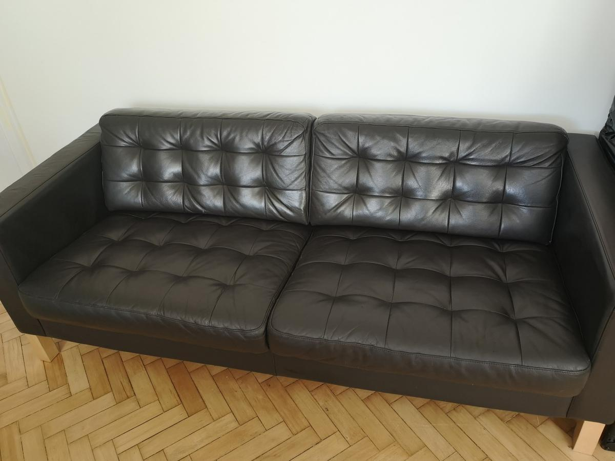 - IKEA Leather Sofa In Hertsmere For £250.00 For Sale Shpock
