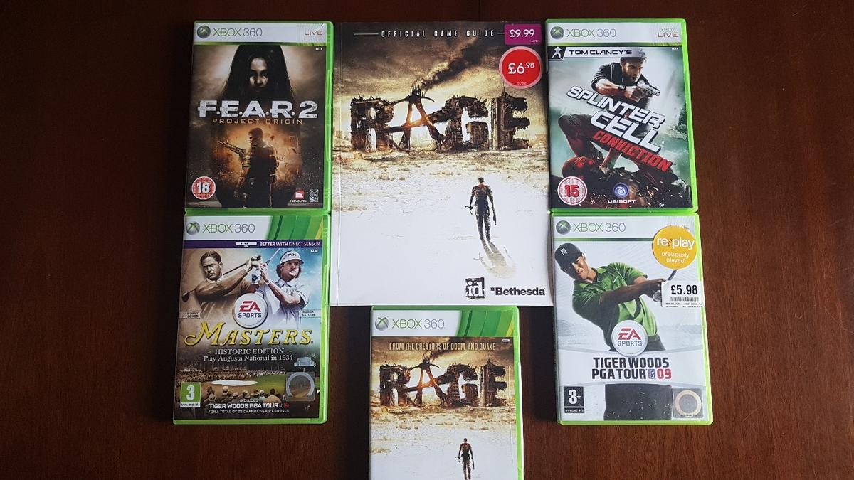 No longer played, 5 games plus Rage book, all working. £10 the lot, collection only, St. Stephen