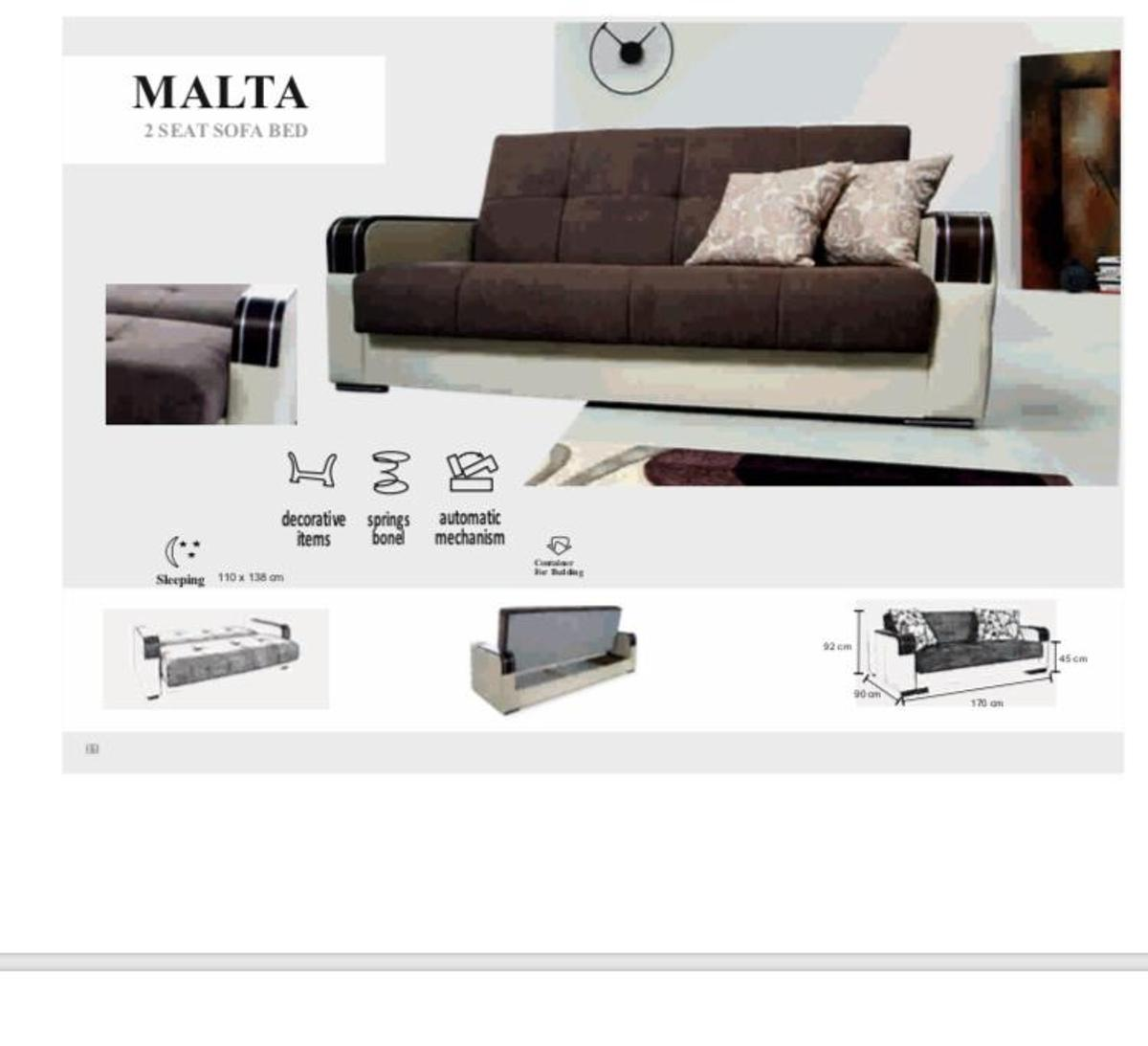 Prime Malta 2 Seat Sofa Bed Awesome Sale In E1 0Ae London Fur 205 Caraccident5 Cool Chair Designs And Ideas Caraccident5Info