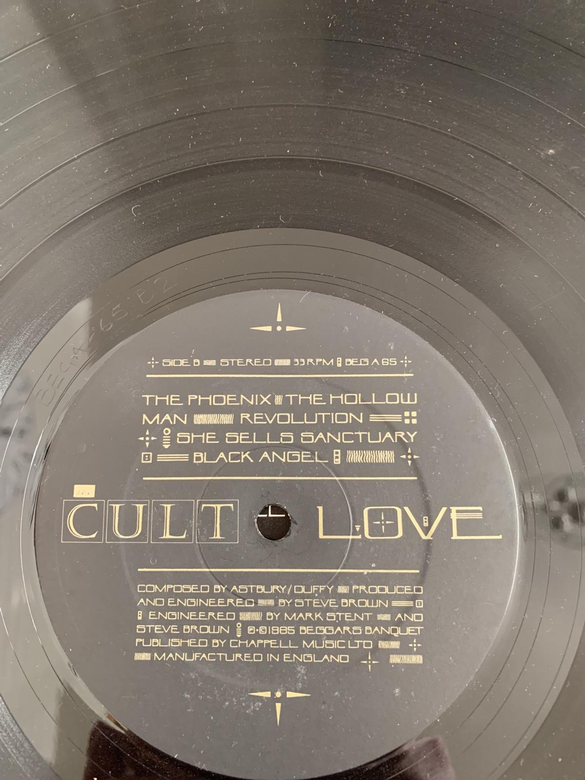 The Cult Vinyl Record LP in Cannock Chase for £5 00 for sale