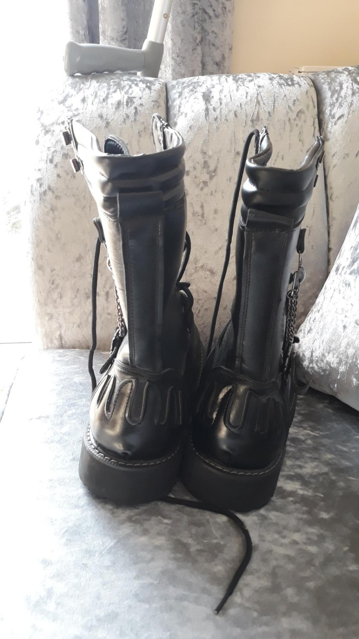 Addax Ridge Goth Boots size 43 UK size 10 in Wigan for