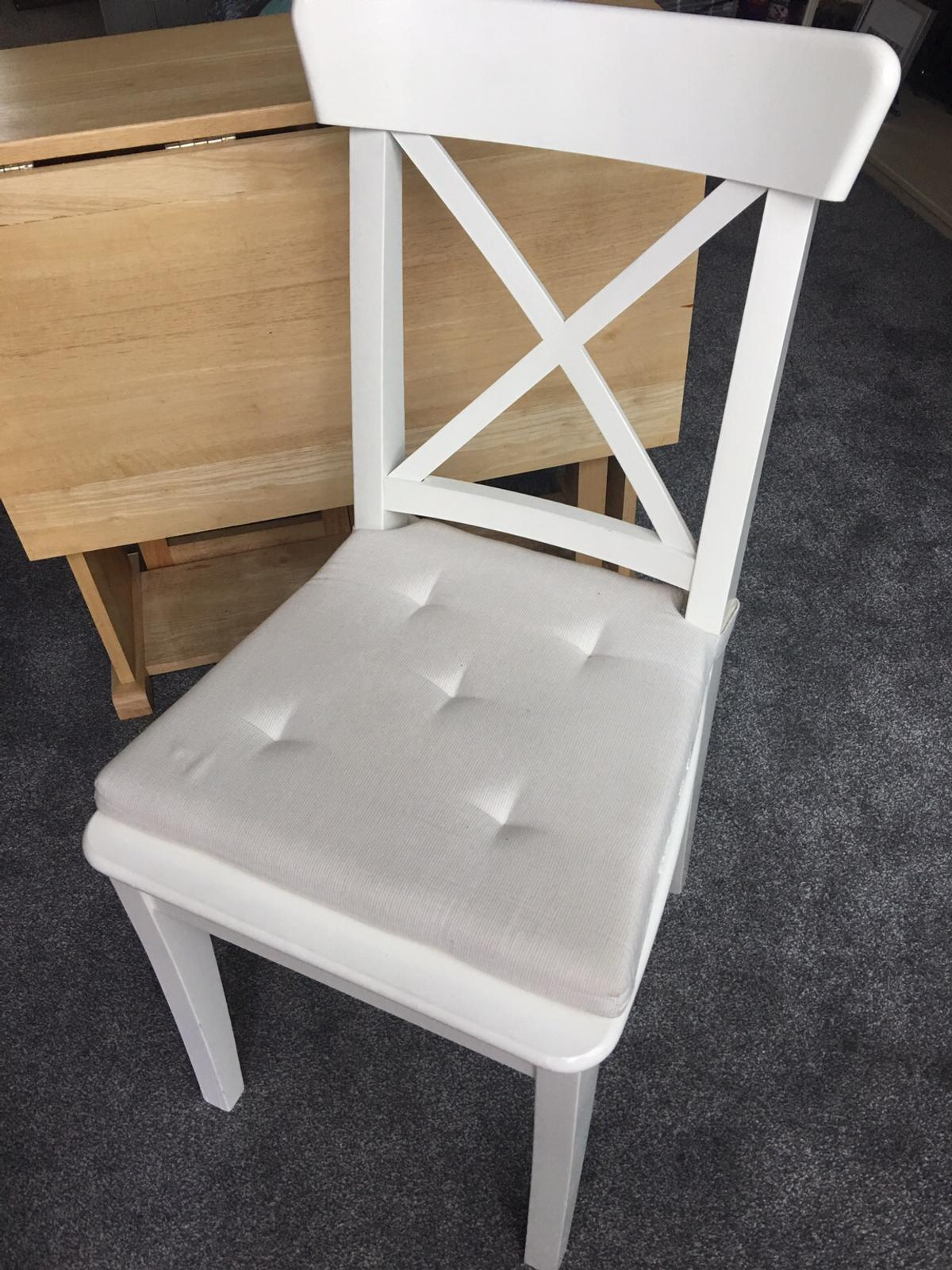 Wondrous Ikea Ingolf White Dining Chairs Half Price Pdpeps Interior Chair Design Pdpepsorg