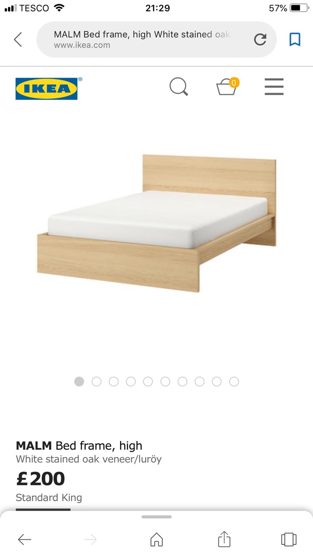 Ikea King Size Bed Frame Malm Code 10973 In E17 London For 85 00 For Sale Shpock