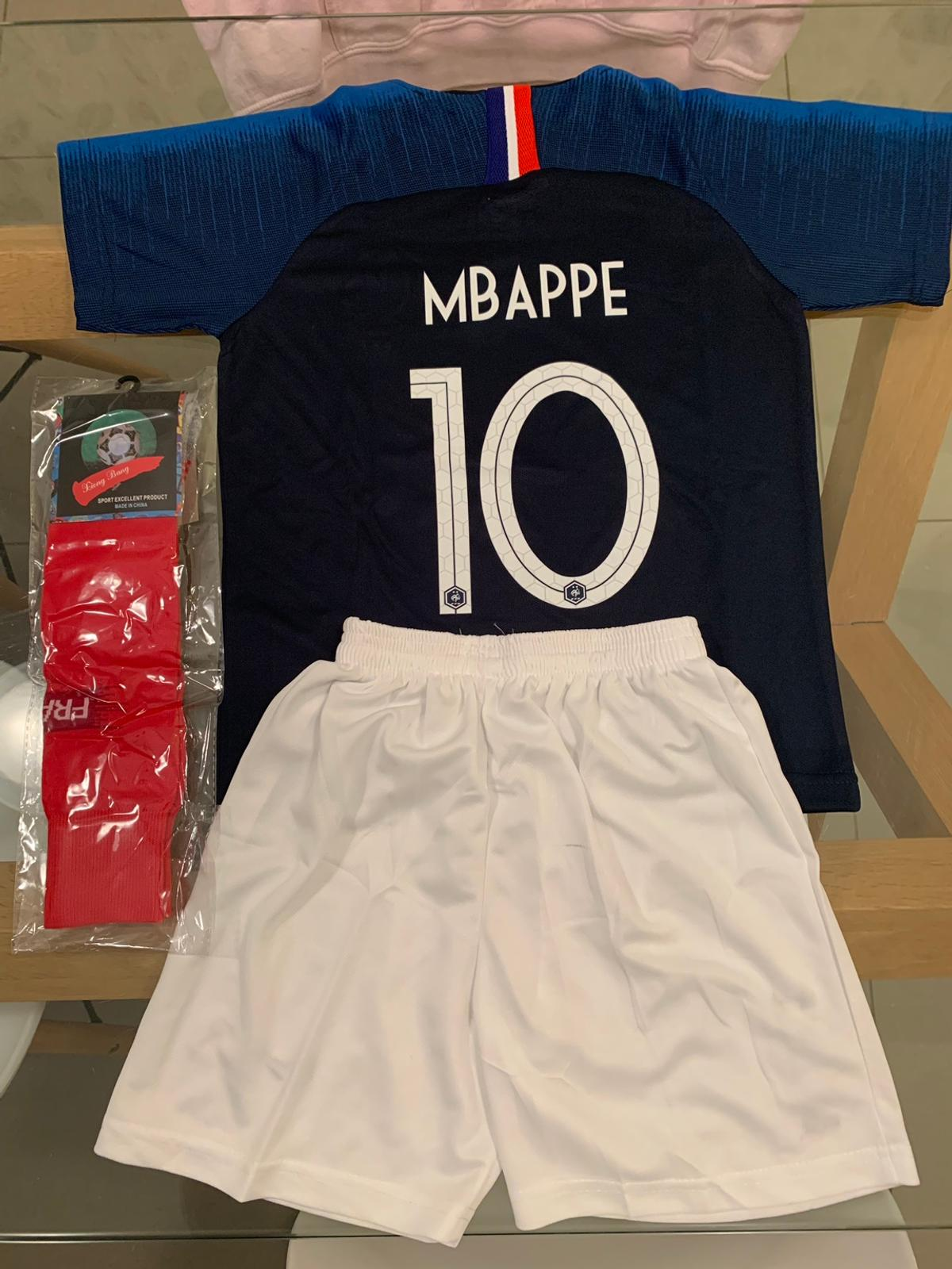 new concept e78f6 3aae2 Kids Number 10 MBAPPE France Football Kit