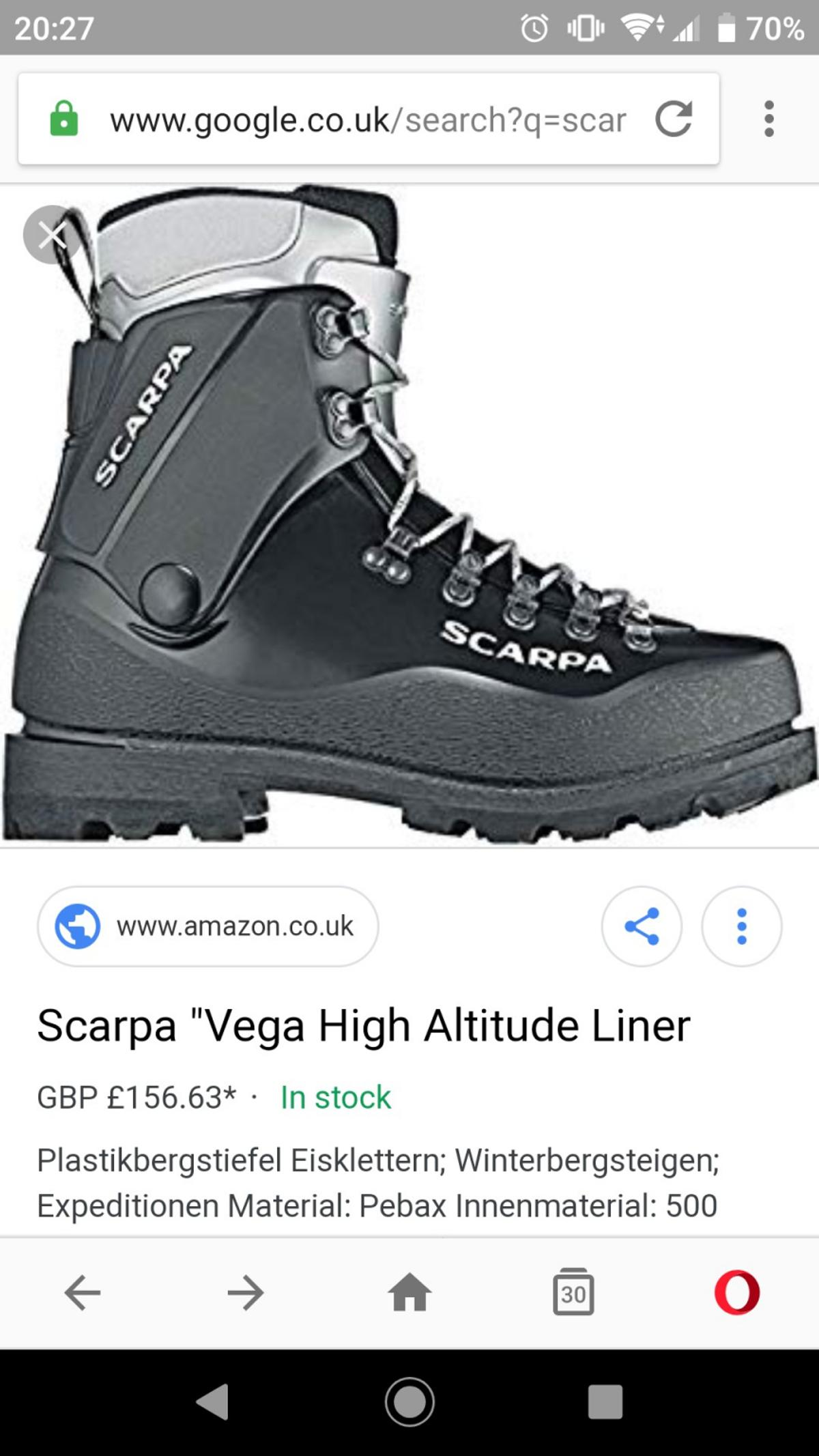 exclusive shoes 50% off san francisco Scarpa vega high altitude boots