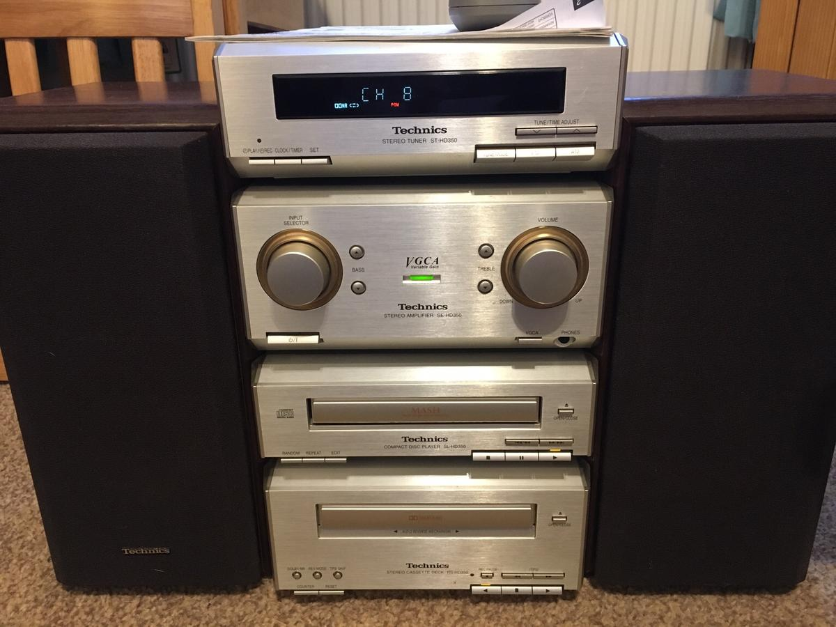 Technics SE-HD350 stacking stereo system