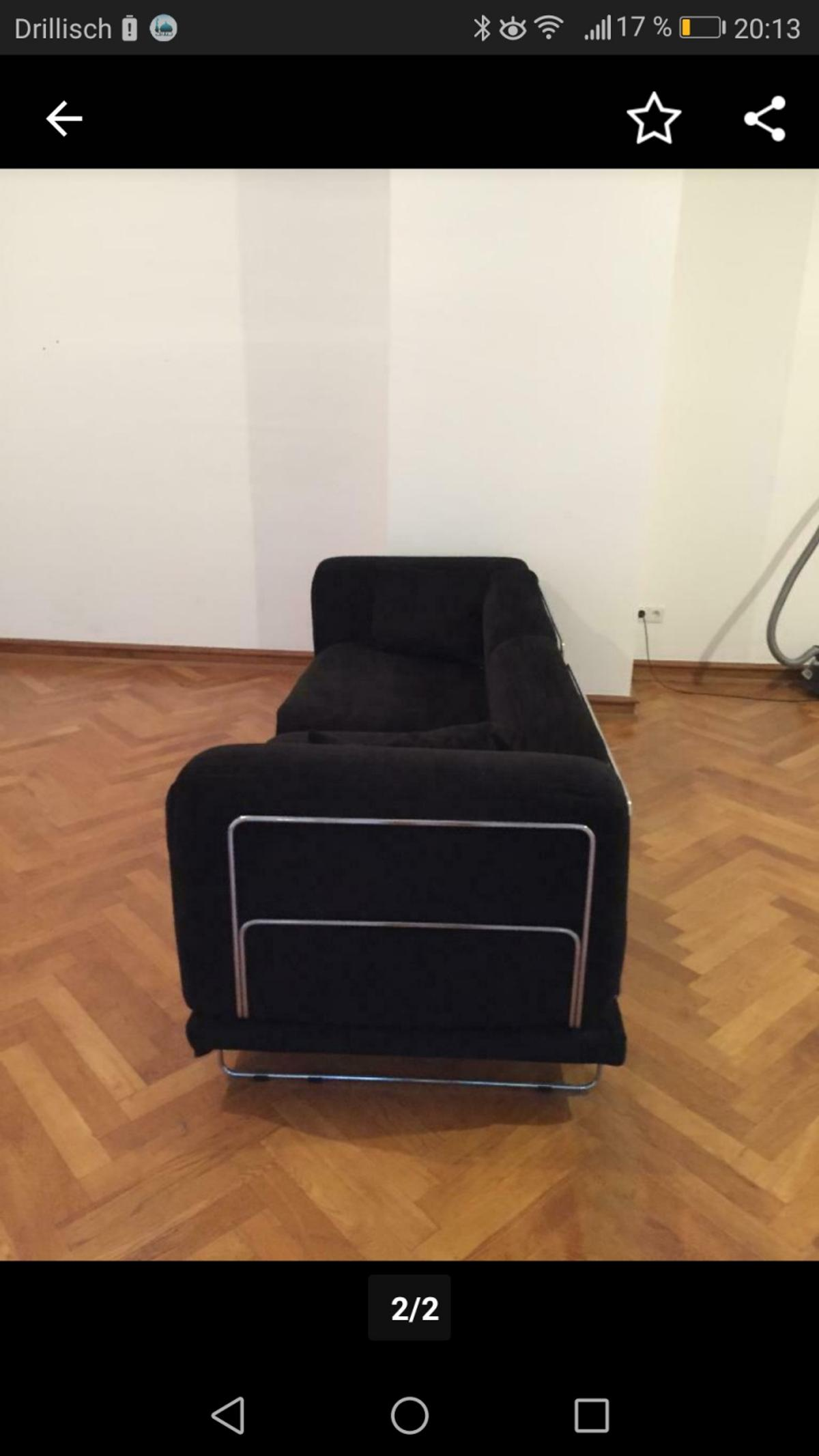 Ikea Tylosand 3er Sofa Schwarzer Cord Stoff In 68782 Bruhl For 100 00 For Sale Shpock