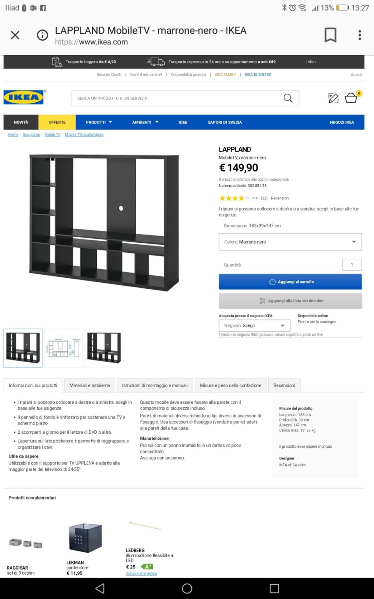 Mobile Sala Ikea In 21047 Gerenzano For 7000 For Sale Shpock