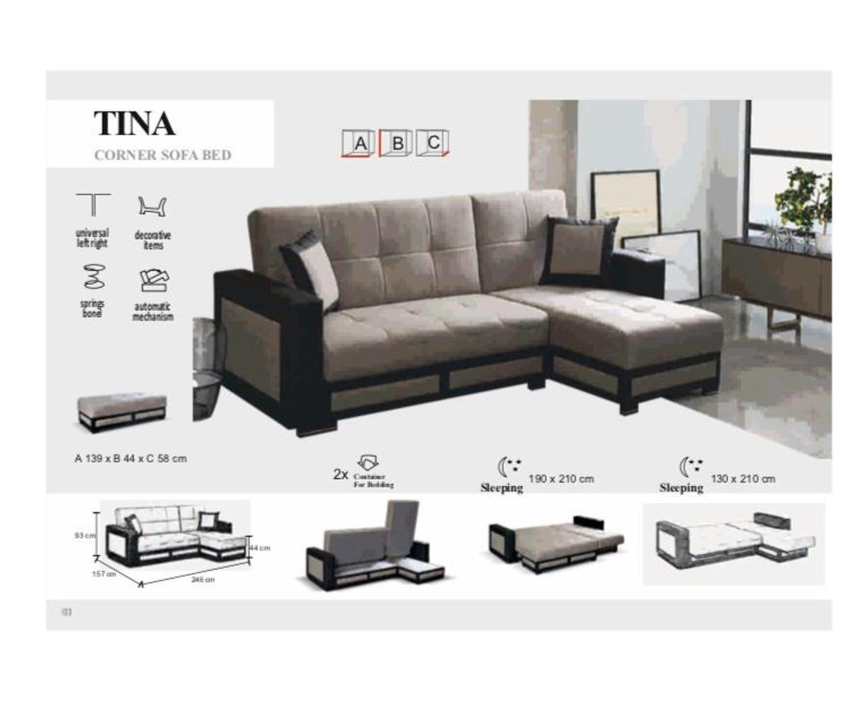 Magnificent Tina Corner Sofa Bed On Big Sale Caraccident5 Cool Chair Designs And Ideas Caraccident5Info